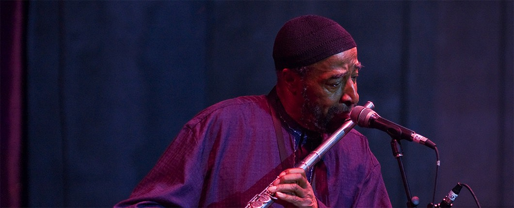 Yusef Lateef performing in 2007 at the Detroit Jazz Festival (photo - Charles Andersen)