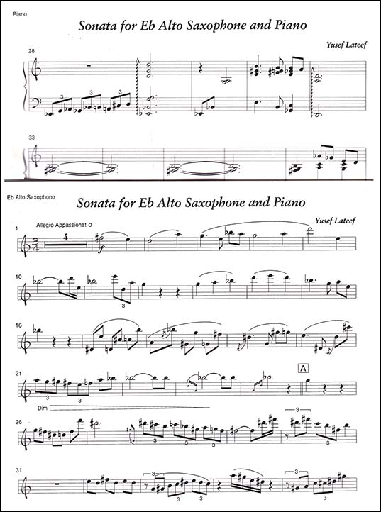 Sonata No. 2 for Eb Alto Saxophone and Piano