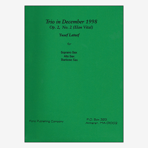 Trio in December 1998 Op. 2, No. 2 (Elan Vital)