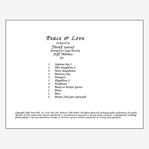 Peace and Love (Ballad)