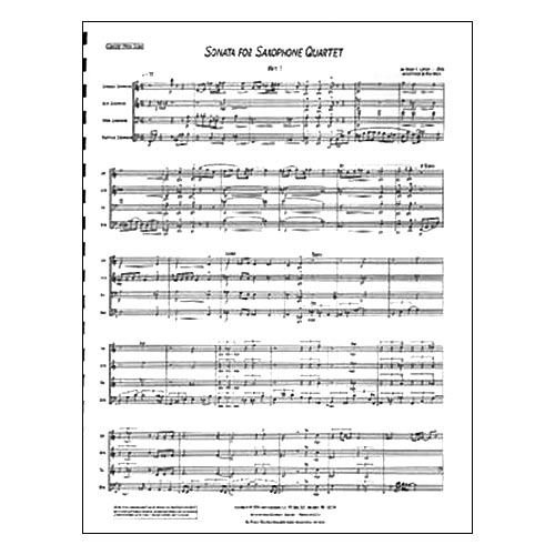 Sonata for Saxophone Quartet