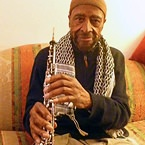 Yusef Lateef warming up on oboe - 2013