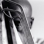 Yusef A. Lateef behind instrument