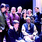 Yusef Lateef with Taka Kigawa, Marty Ehrlich, J. D. Parran, Alan Won, Adam Rudolph, Emilie-Anne Gendron, Adda Kridler, Stephanie Griffin, and Michael Haas at 'Roulette', Brooklyn, NY for 'The Gentle Giant At 92: Celebrating the Music of Yusef Lateef' - 4.6.13 (photo - Alan Nahigian)