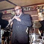 Yusef  Lateef playing oboe at Lennie's on The Turnpike, Peabody, MA - April, 1964 (photo - Salem State Archives)
