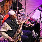 Yusef Lateef at 'Roulette', Brooklyn, NY for 'The Gentle Giant At 92: Celebrating the Music of Yusef Lateef' - 4.6.13 (photo - Alan Nahigian)