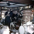 Yusef Lateef at Lennie's on the Turnpike, Peabody, MA - April, 1964  Reggie Workman - bass, Mike Nock - piano, James Black - drums (photo - Salem State Archives)